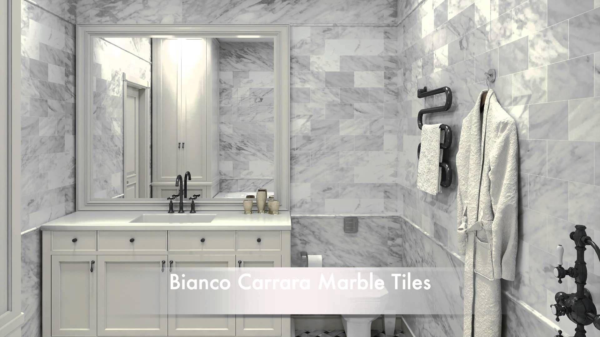 Bathroom Tile Ideas White Carrara Marble Tiles And Calacatta Gold Marble