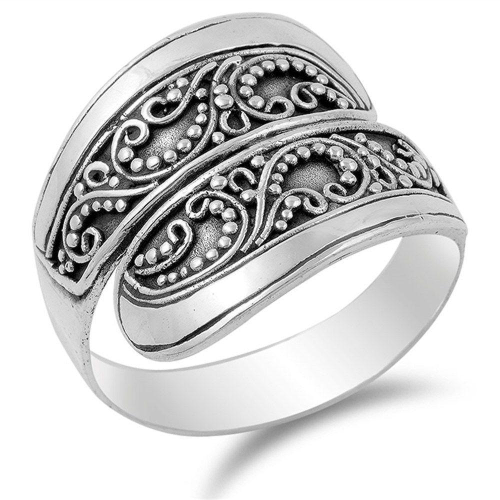 8af1ba6a0 Unique Bali Design Band .925 Sterling Silver Ring Sizes 6-9 #ebay #Fashion