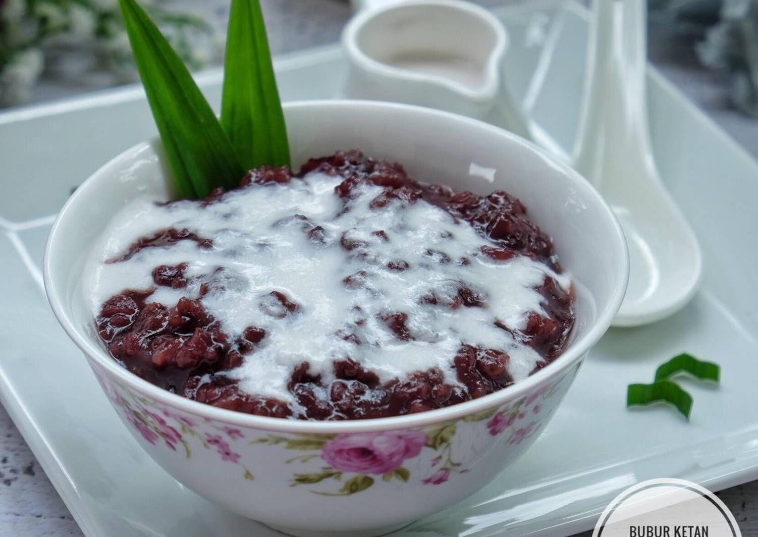 Resep Bubur Ketan Hitam Saus Santan Oleh Susi Agung Resep Ide Makanan Makanan Resep