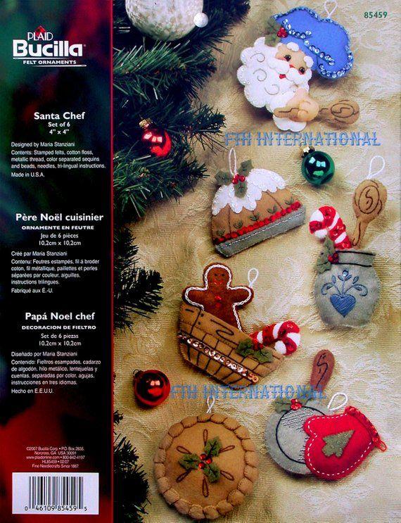 Felt Christmas Ornament Kit #86667 Bucilla Letters to Santa Envelopes ~ 6 Pce