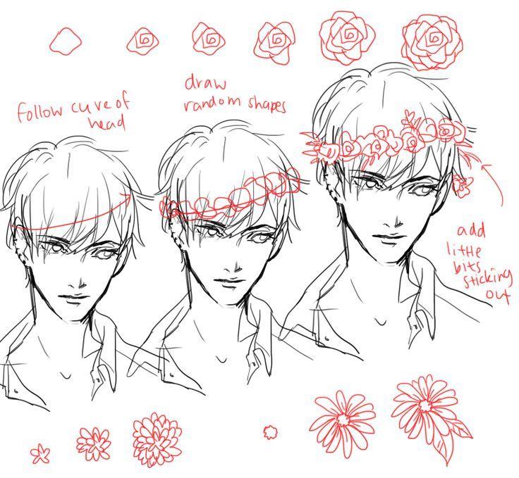 flower headband tutorial | art guide and illutration ...