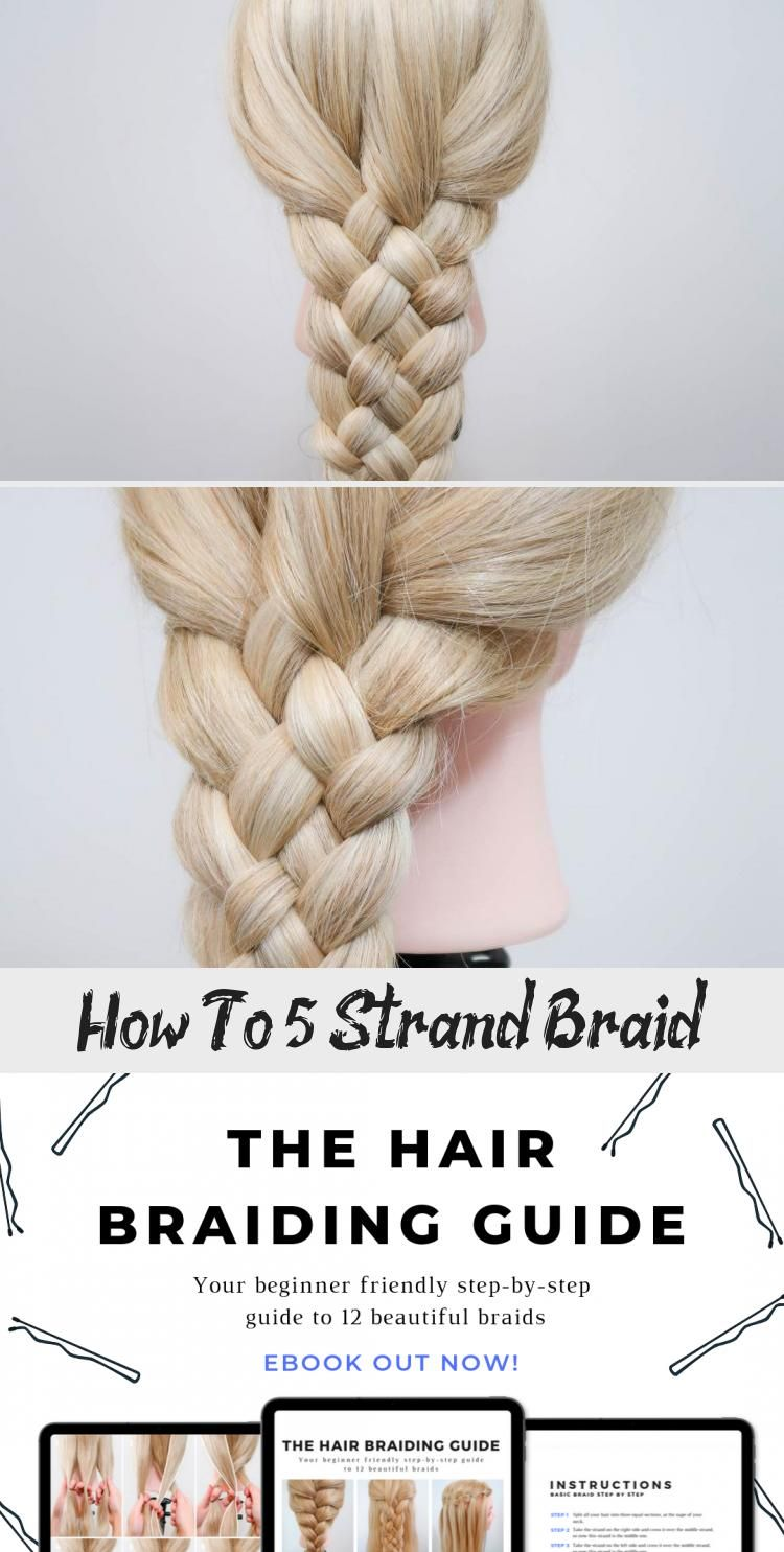 How To 5 Strand Braid Everyday Hair Inspiration 5 Strand Braid Howtodoeverydayhairstyles Everydayhairstyles E 5 Strand Braids Strand Braid Everyday Braids