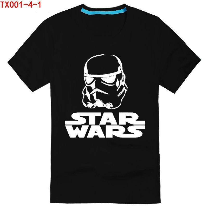 star wars fashion print casual T-shirt