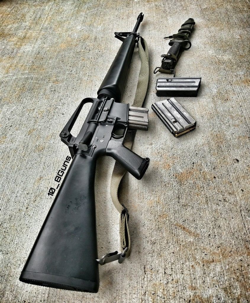 Colt XM16E1, Select-Fire 5.56x45mm Assault Rifle. These