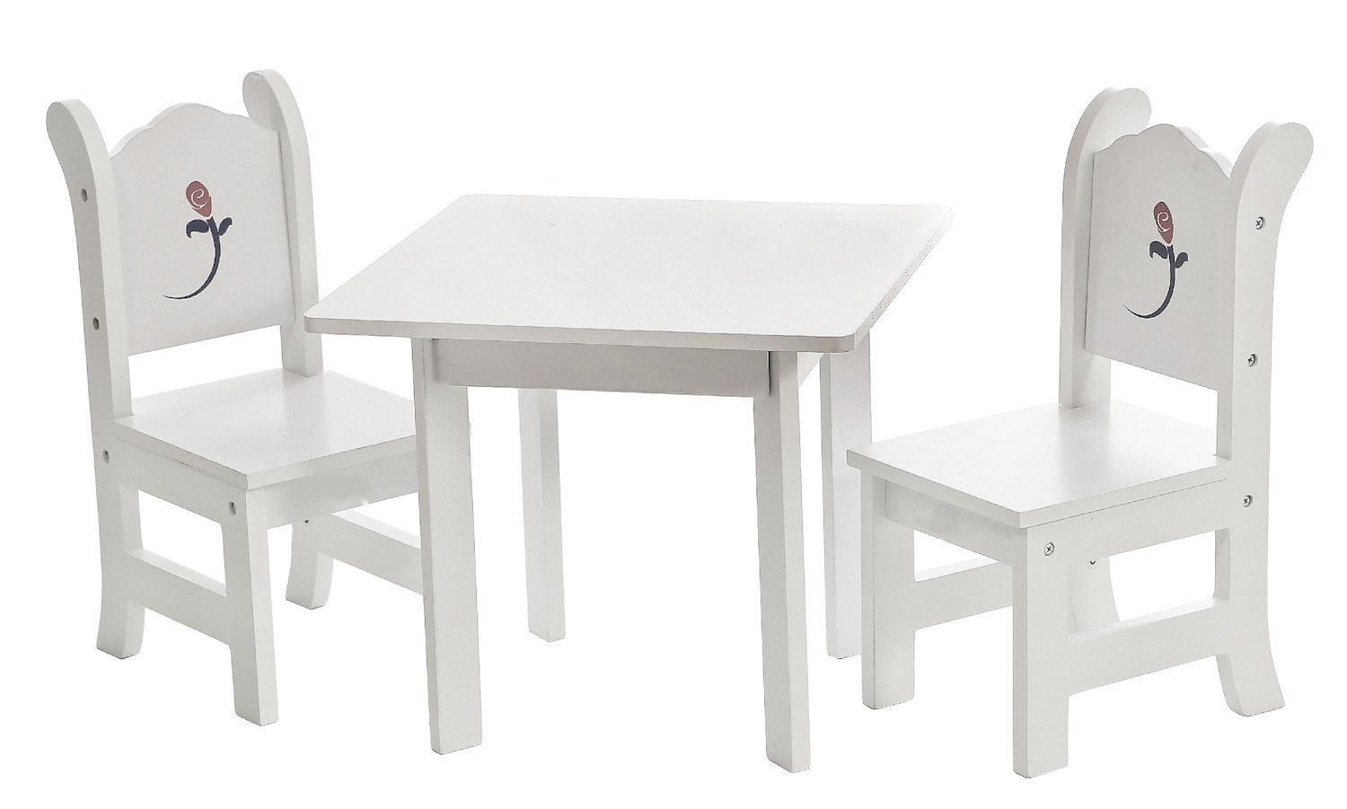 Astounding 18 Inch Doll Table And Chairs Set White Furniture With Machost Co Dining Chair Design Ideas Machostcouk