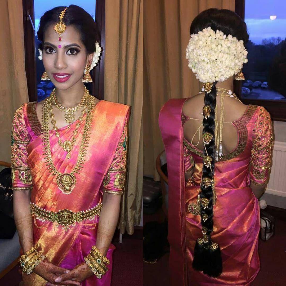 Hairstyle On Saree For Wedding: Sapi Vijay, Bridal Makeover By @vithyahairandmakeup