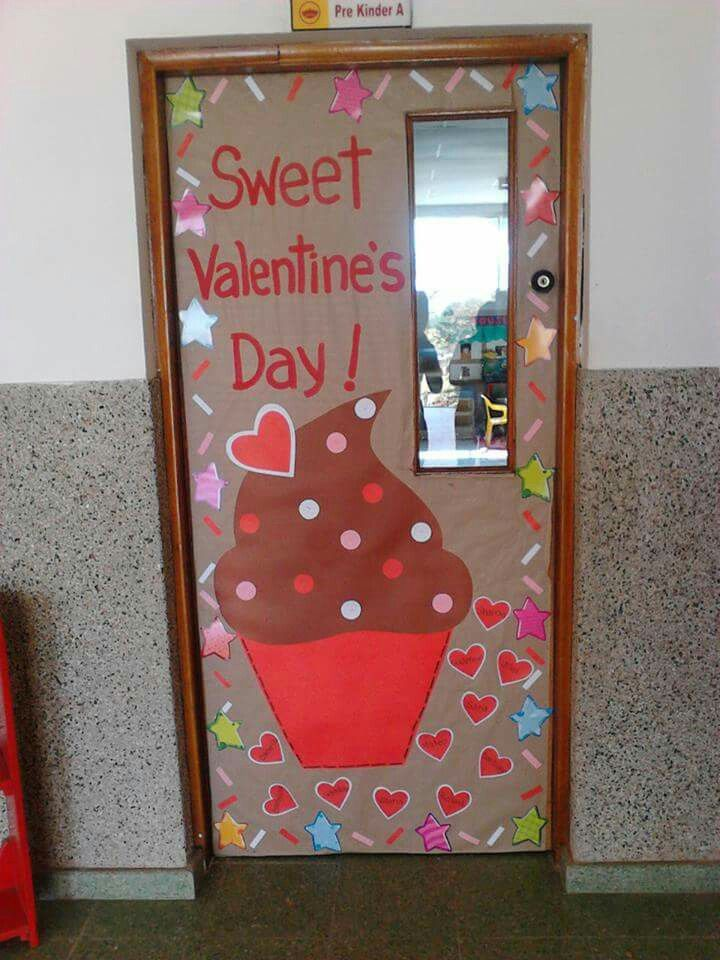 14 de febrero decoracion pinterest febrero puertas for Puertas escolares decoradas