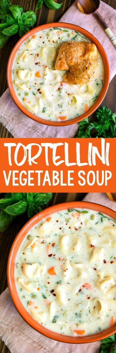 Creamy Tortellini Vegetable Soup