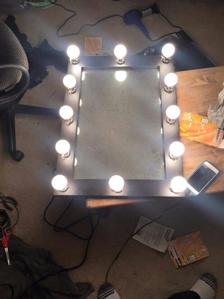 Homemade Vanity Mirror Decorating Ideas In 2019 Diy