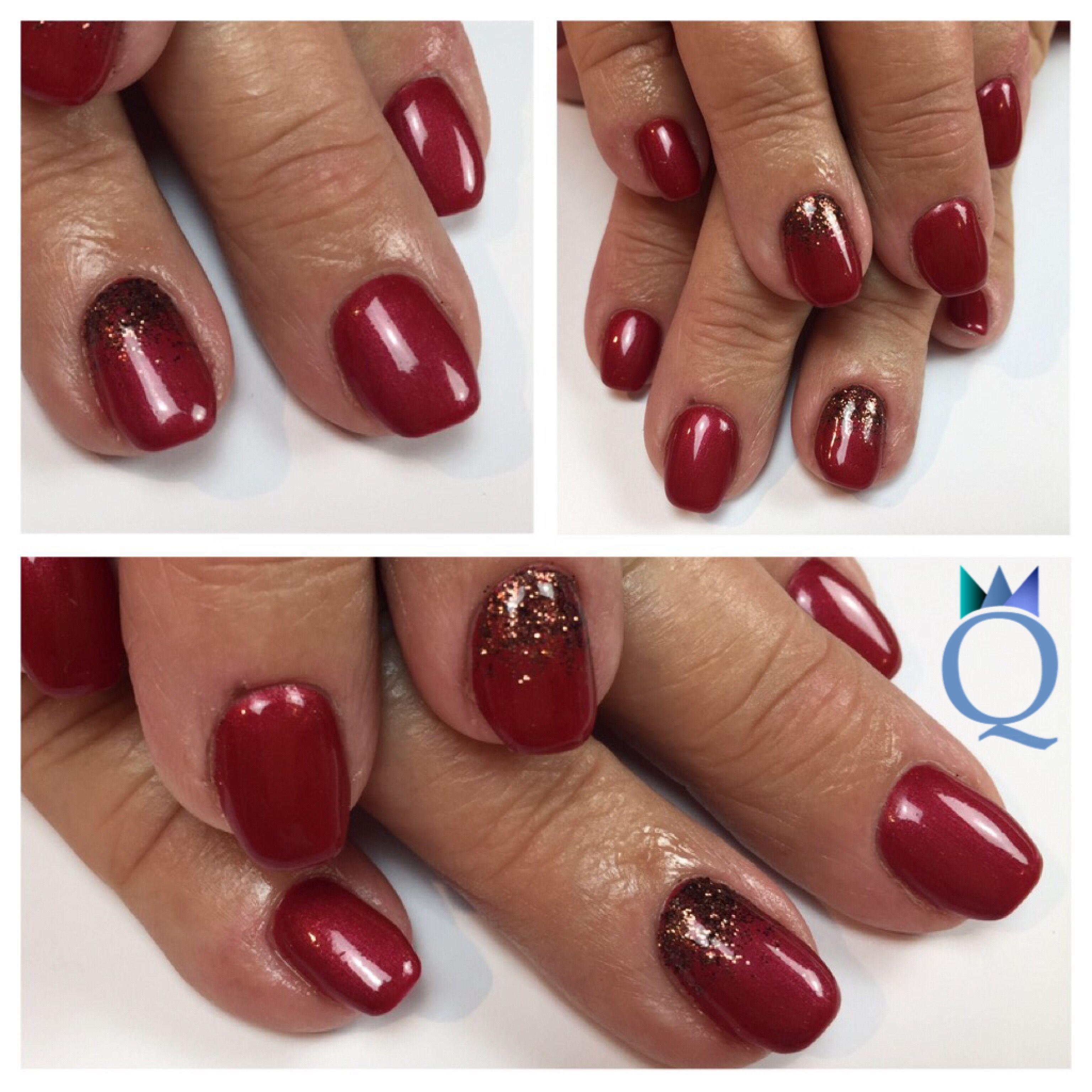 shortnails gelnails nails red brown glitter. Black Bedroom Furniture Sets. Home Design Ideas