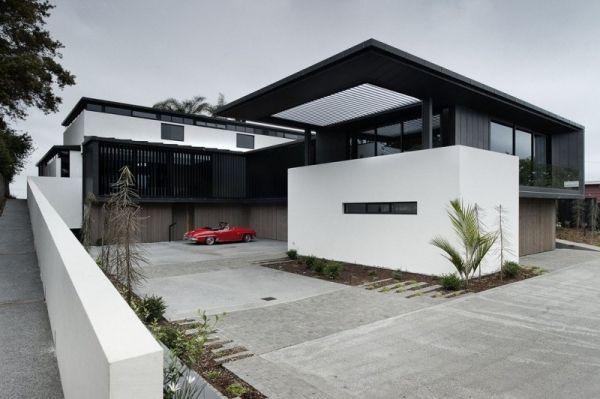 Modernes Haus Garrage Oldtimer