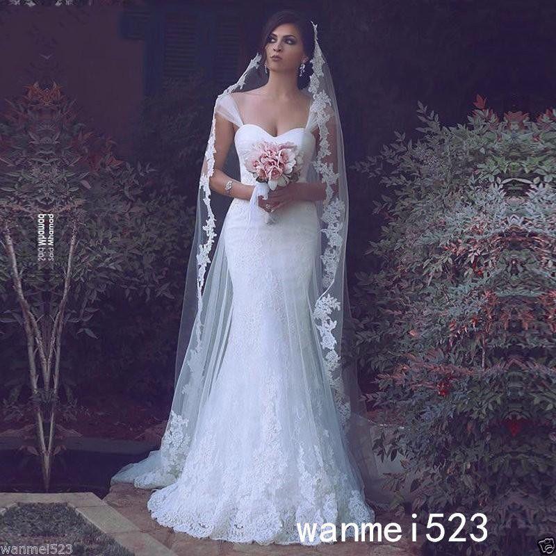 Vestidos De Novia Vestido para Boda Traje de novia estilo sirena de ...