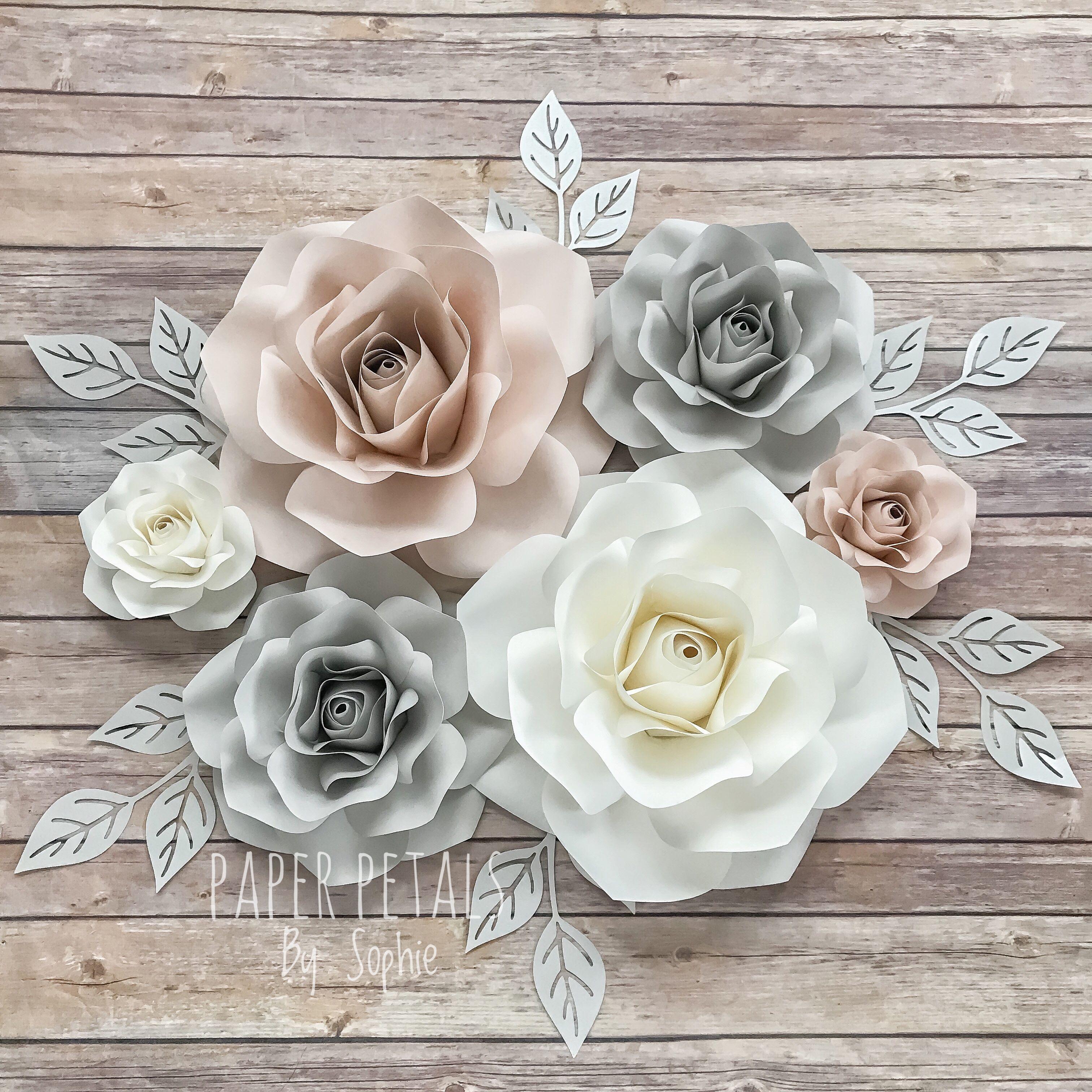 Nursery Paper Flowers Decor 6 Paper Flowers Decoration