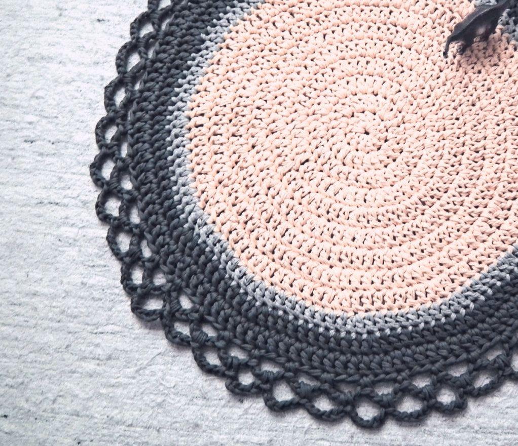 Crochet Round Rug - Babyrooms Round Rug - Nursery Crochet Rug ...