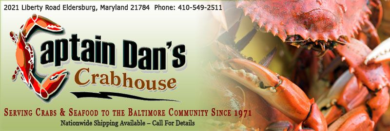 Captain dans crabhouse maryland steamed crab delivery