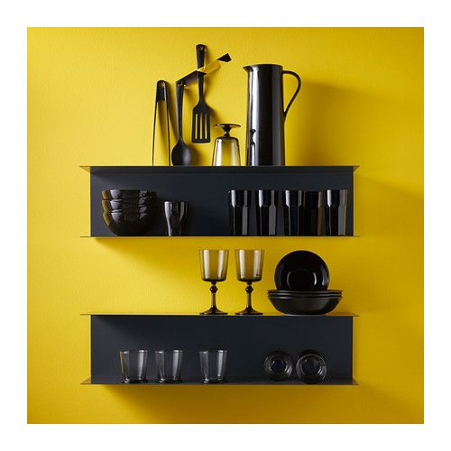 BOTKYRKA Wandplank - grijs - IKEA | kitchen | Pinterest | Shelves ...