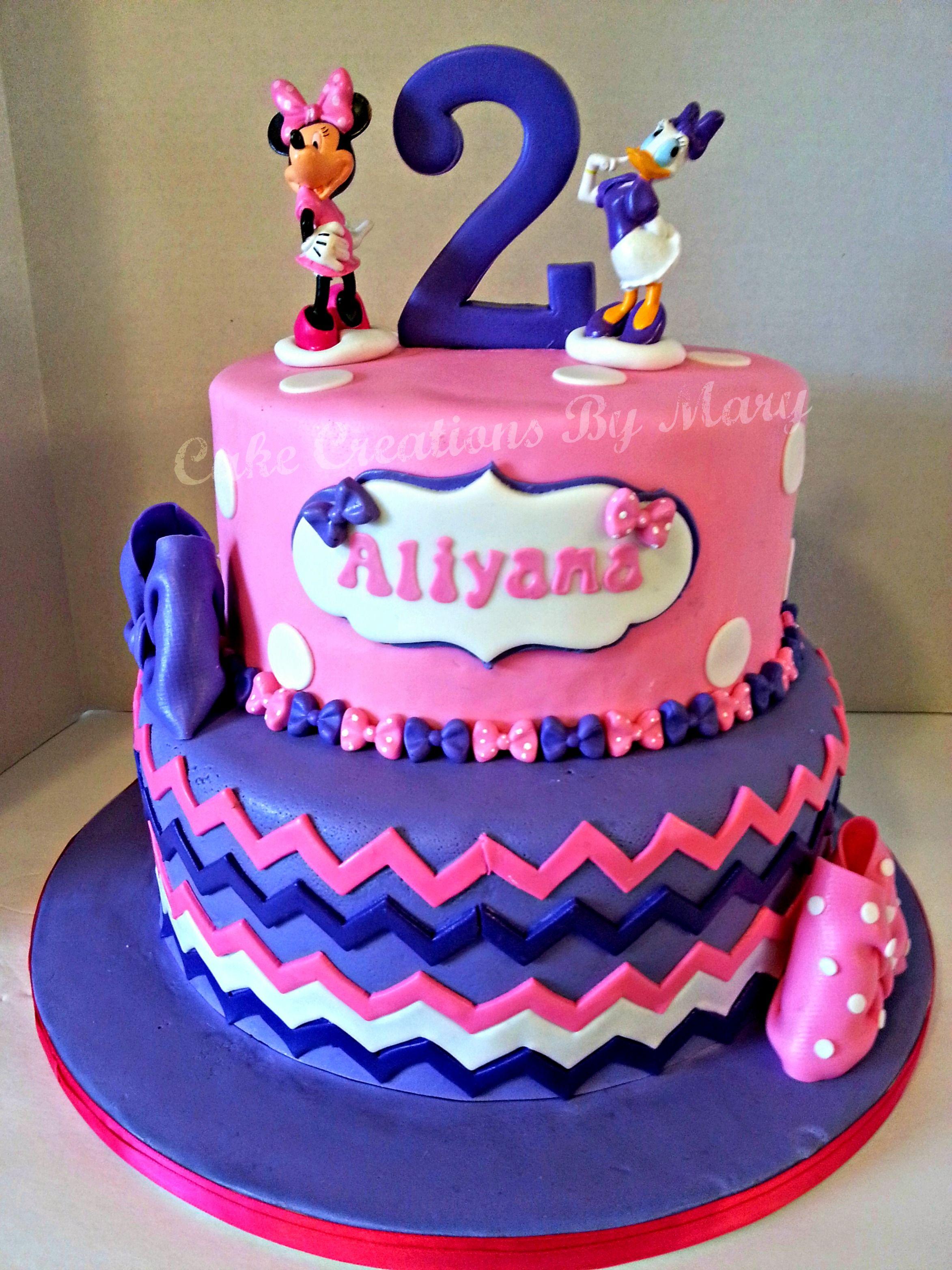 Terrific Minnie And Daisy Cake Daisy Cakes Daisy Duck Party 4Th Personalised Birthday Cards Vishlily Jamesorg