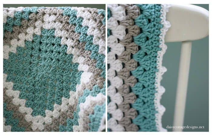 Granny Square Pattern - A free crochet pattern | Mesa flotante ...