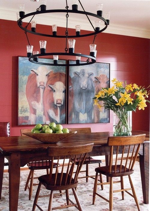 charming Cow Decorating Ideas Part - 7: An easy way to get the farmhouse look in your home is with farmhouse  animals. Add wall art or other type of cow decor to add a bit of farmhouse  style.