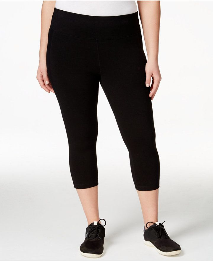 Ideology Plus Size Slimming Cropped Leggings Only at Macy's * You can find  more details by