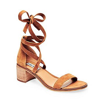 3f1ac4fbb7 Strappy Low Heels in Suede | Steve Madden RIZZAA | My Style | Tie up ...