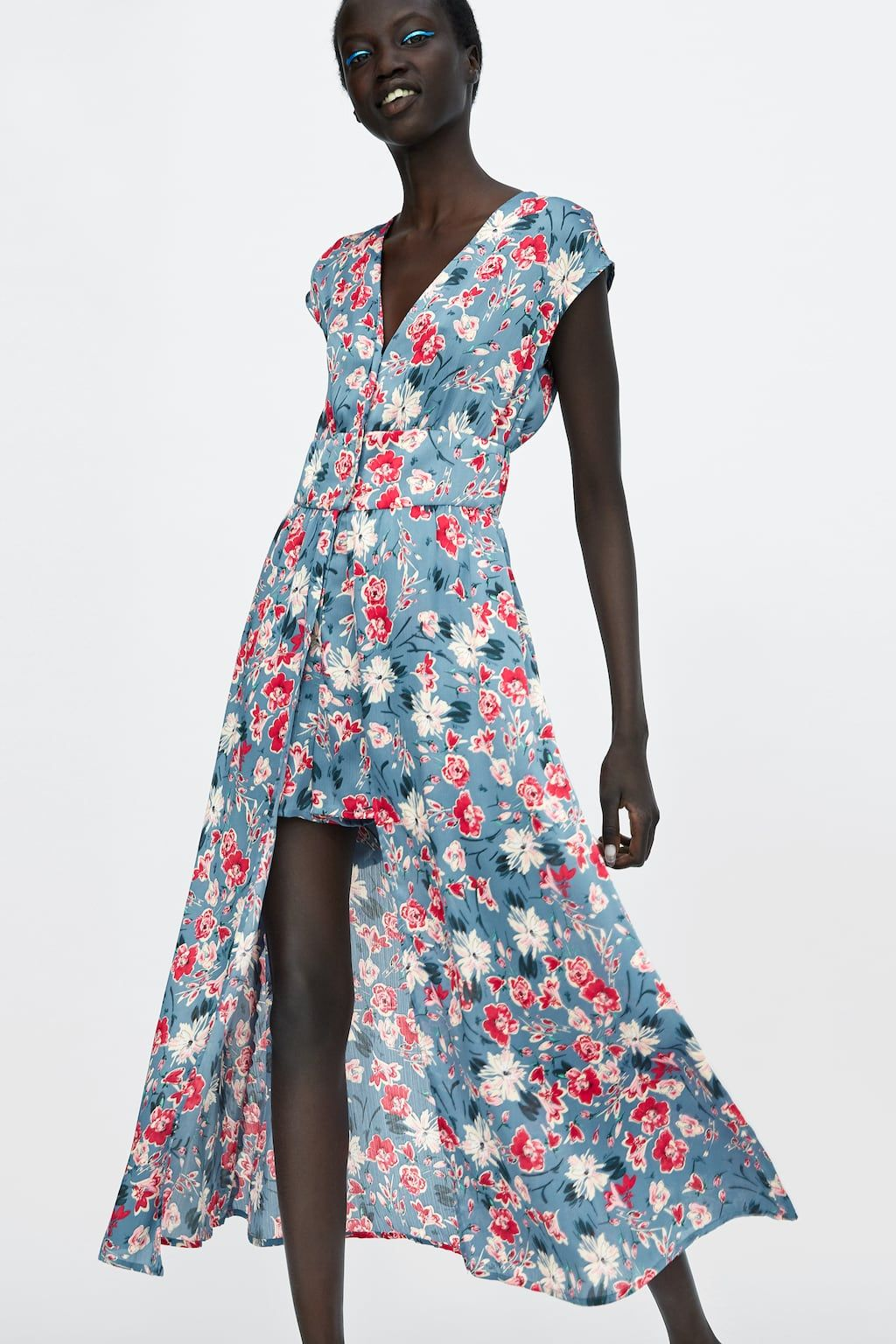 0234243403c Image 4 of FLORAL PRINT JUMPSUIT DRESS from Zara