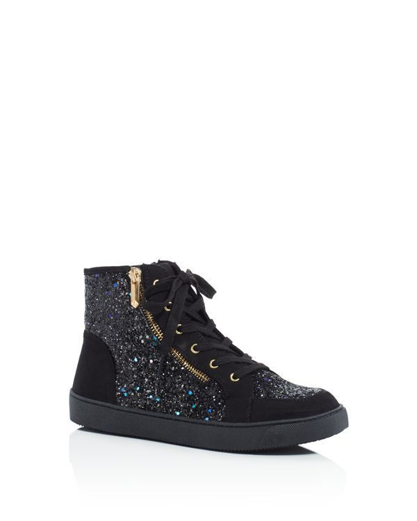 4058d417719a53 Sam Edelman Girls  Britt Roxy Glitter High Top Sneakers - Little Kid ...