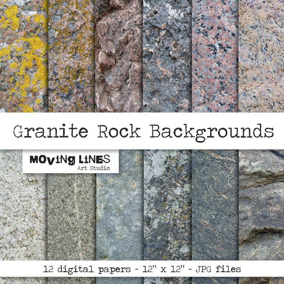 Granite Digital Paper Pack Rock Wallpaper Stone Background Etsy Digital Paper Digital Paper Pack Rock Background