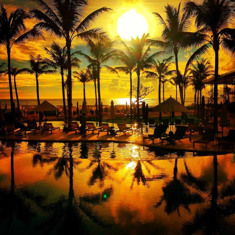 Sunset over Bali.