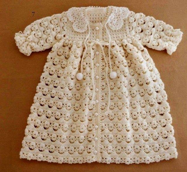 Abrigo de Bebé tejido a Crochet | Bebés | Pinterest | Abrigos, Bebé ...