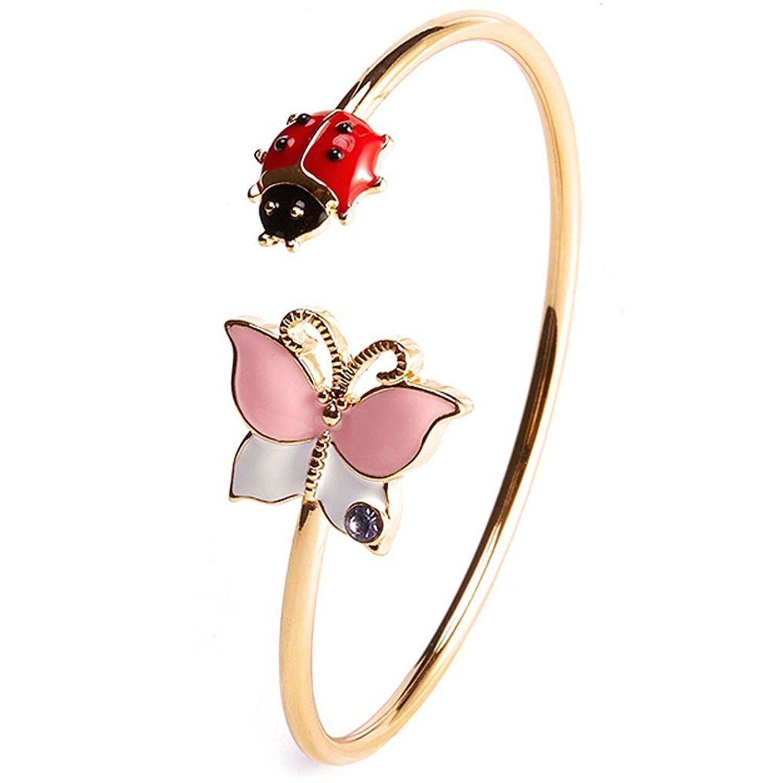 Simple bangle bracelet cuffs for women girls stretch gold bracelet