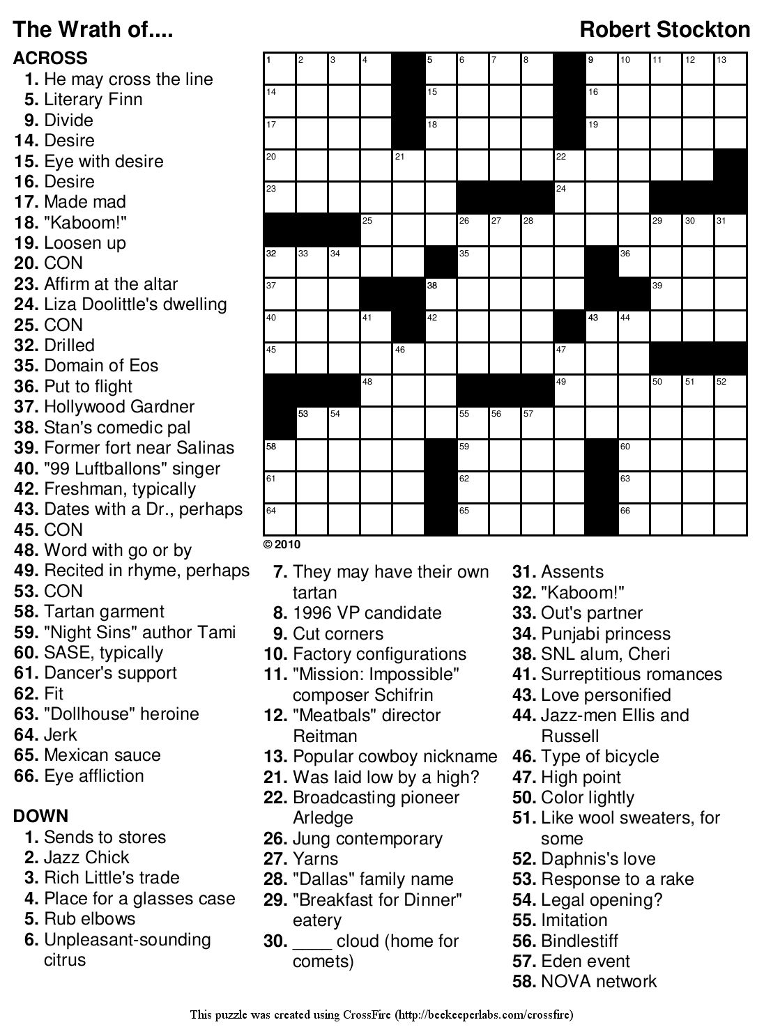 picture relating to Crossword Puzzles for High School Students Printable called Terrific Crossword Puzzles Straightforward Printable Free of charge Org Ch