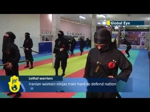 Iran Trains Thousands Of Female Ninja At A Ninjutsu Martial Arts