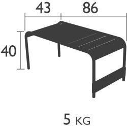 Photo of Fermob Luxembourg large low table / garden bench capucine Fermob