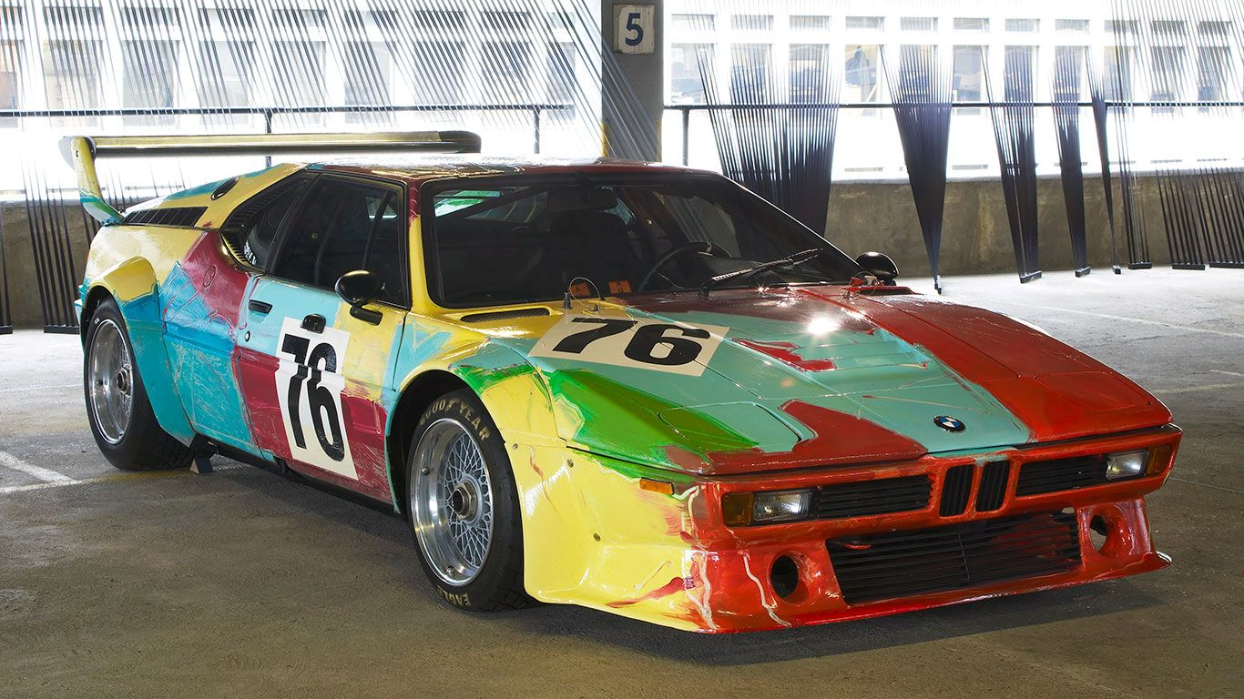 When art and cars collide – BMW's incredible Art Cars in pictures........ 1979 BMW M1 – Andy Warhol