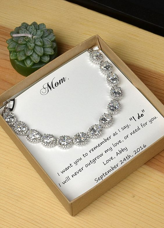 Personalized Bridesmaids Gift Mother Of The Groom Gifts Bridal Party Jewelry Wedding Bracelet Mom Bride