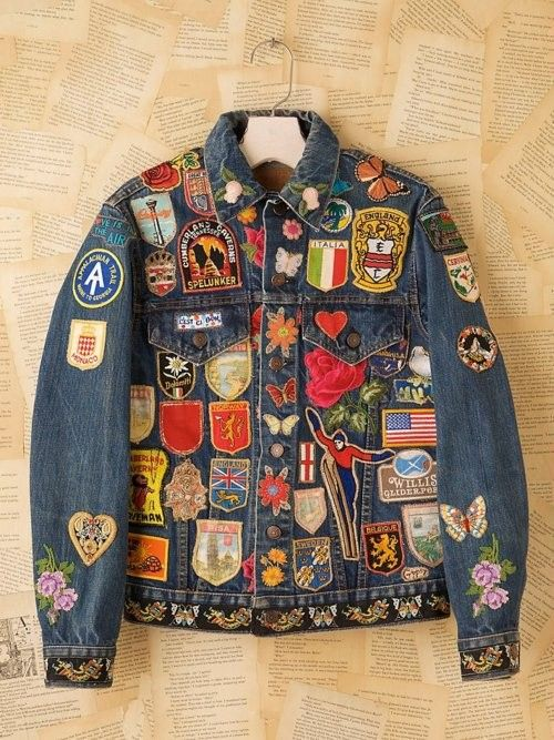 Patched Denim Jacket   ☆ Pins   Patches ☆   Pinterest   Denim ... e1ecd77b2d