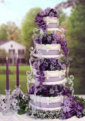 black silver and purple wedding cakes The colour purple