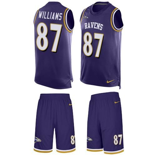 Discount Nike Ravens #87 Maxx Williams Purple Team Color Men's Stitched NFL