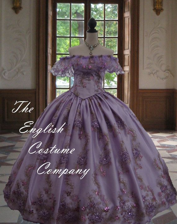Victorian Crinoline Dress Civil War Sequin And Diamante Studded