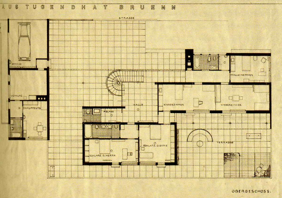 Ludwig mies van der rohe tugendhat house i maestri for Architettura moderna case