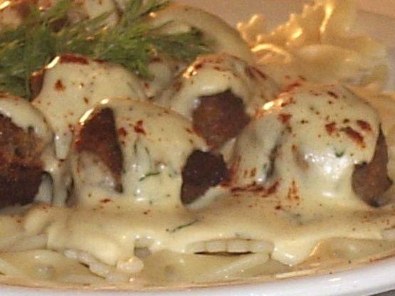 Danish Meatballs With Creamy Dill Sauce Recipe Creamy Dill Sauce Dill Sauce Food