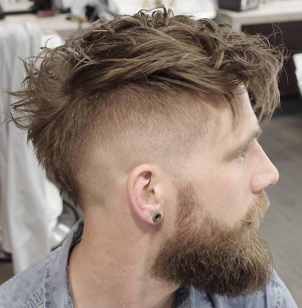 Messy haircuts men  ultracool high fade haircuts for men  mohawks high fade