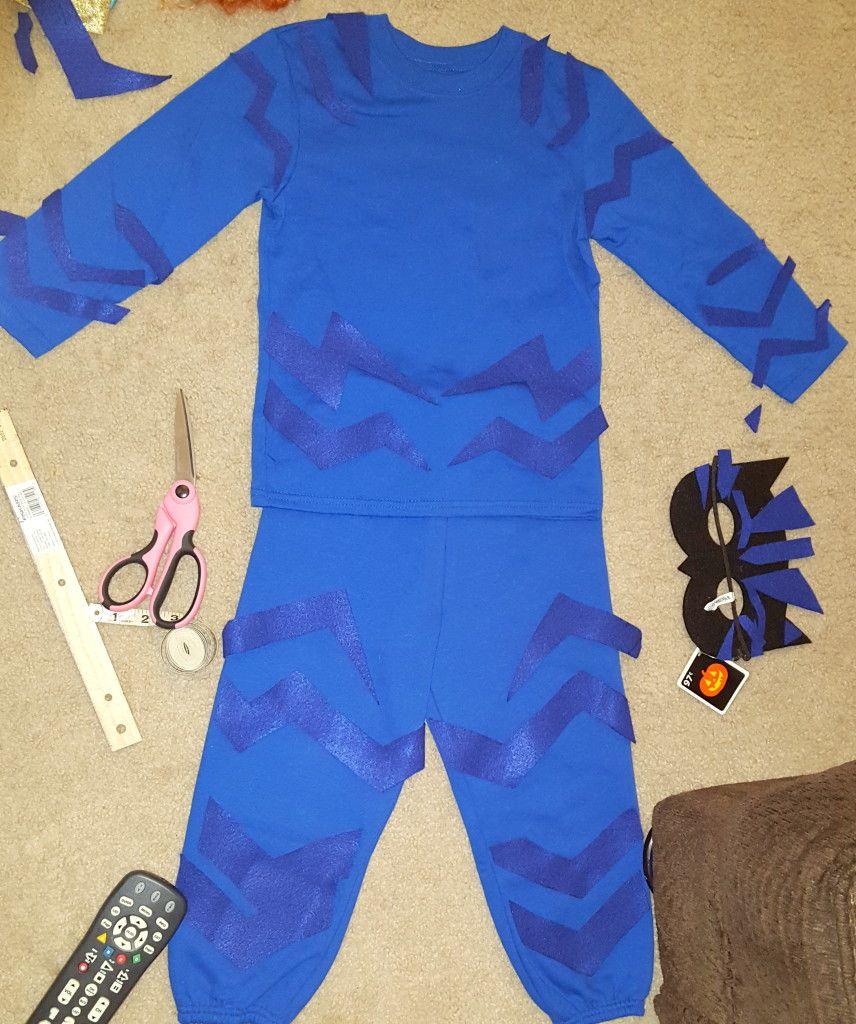 PJ masks catboy costume made with crafting felt