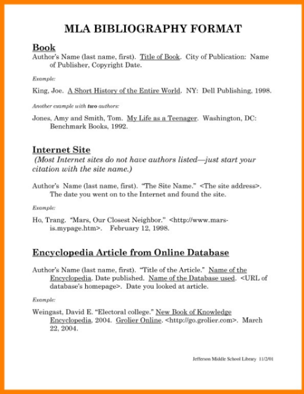 4 Book Reference Templates Writing A Bibliography Mla Format Essay