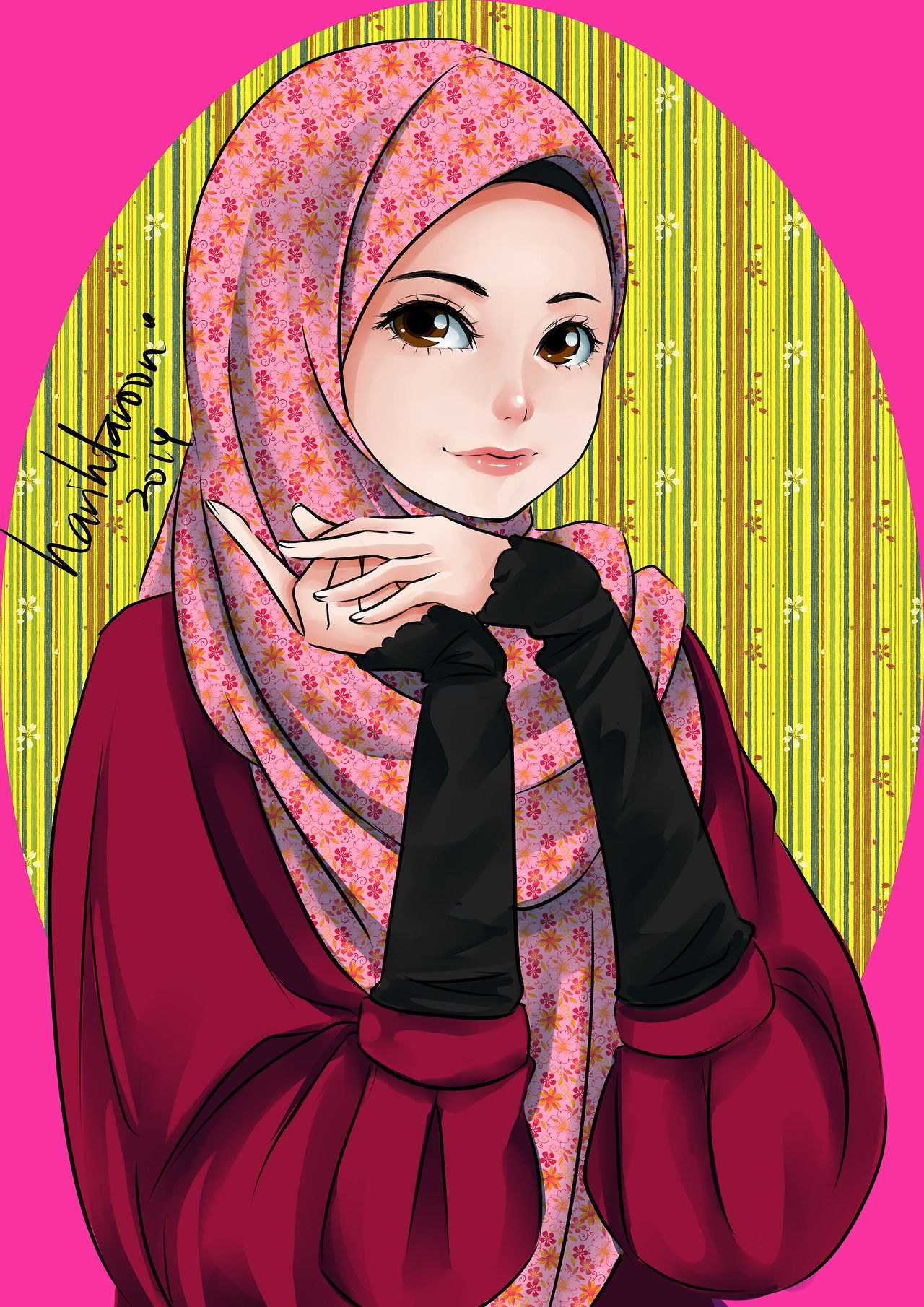 Ana Muslimah Cute Wallpaper Ana Muslim Fan Art Tool Paint Tool Sai Ana Muslim Has A