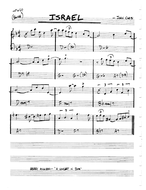 Jazz Realbook I Page 240 Israel John Carisi Jazz