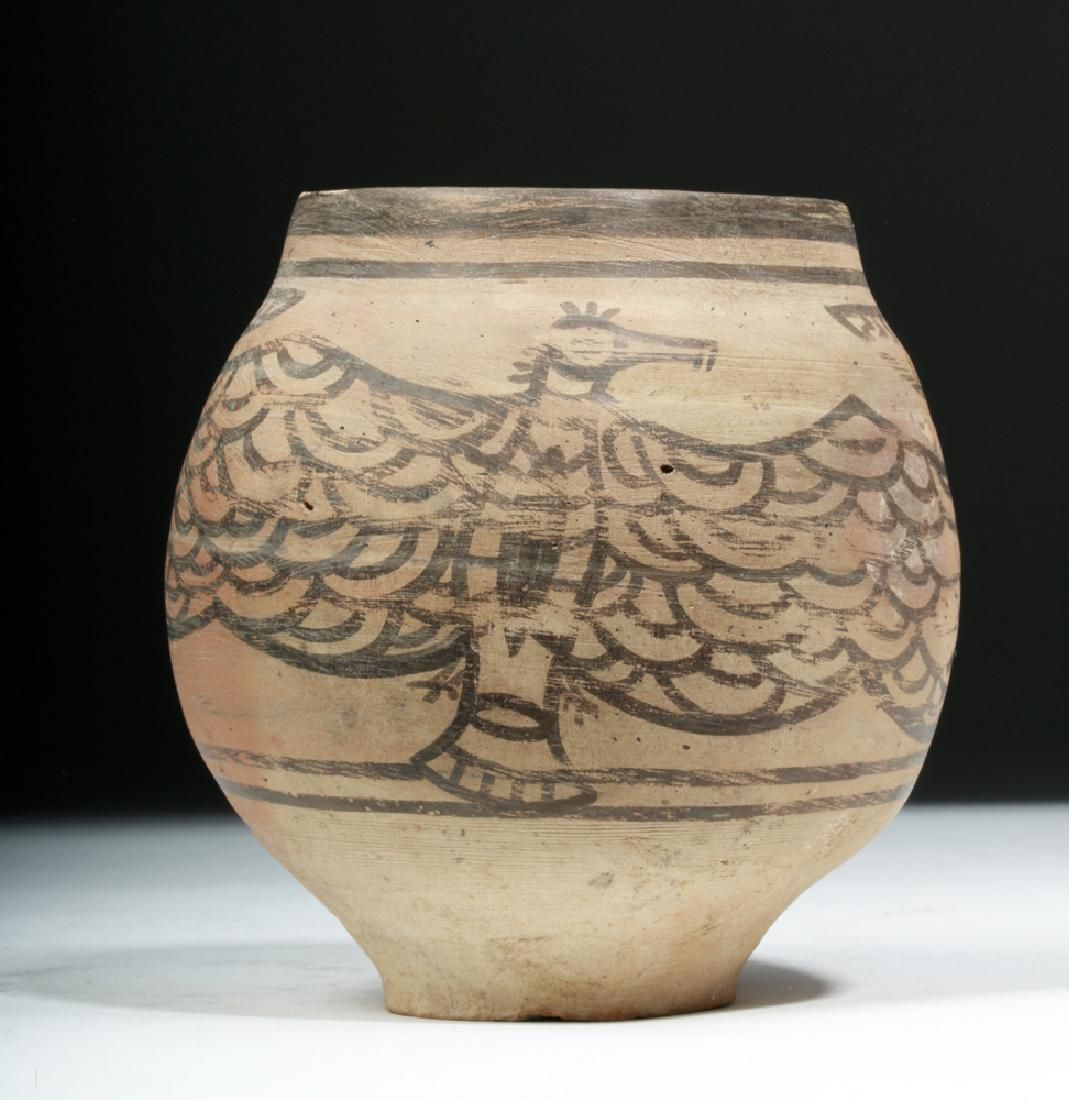 Rare Indus Valley Pottery Jar With Eagle