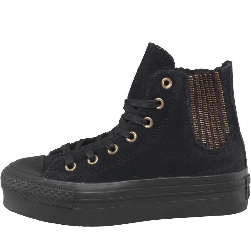 bdac1f4277 Converse Womens CT All Star Hi Platform Chelsea Trainers Black ...