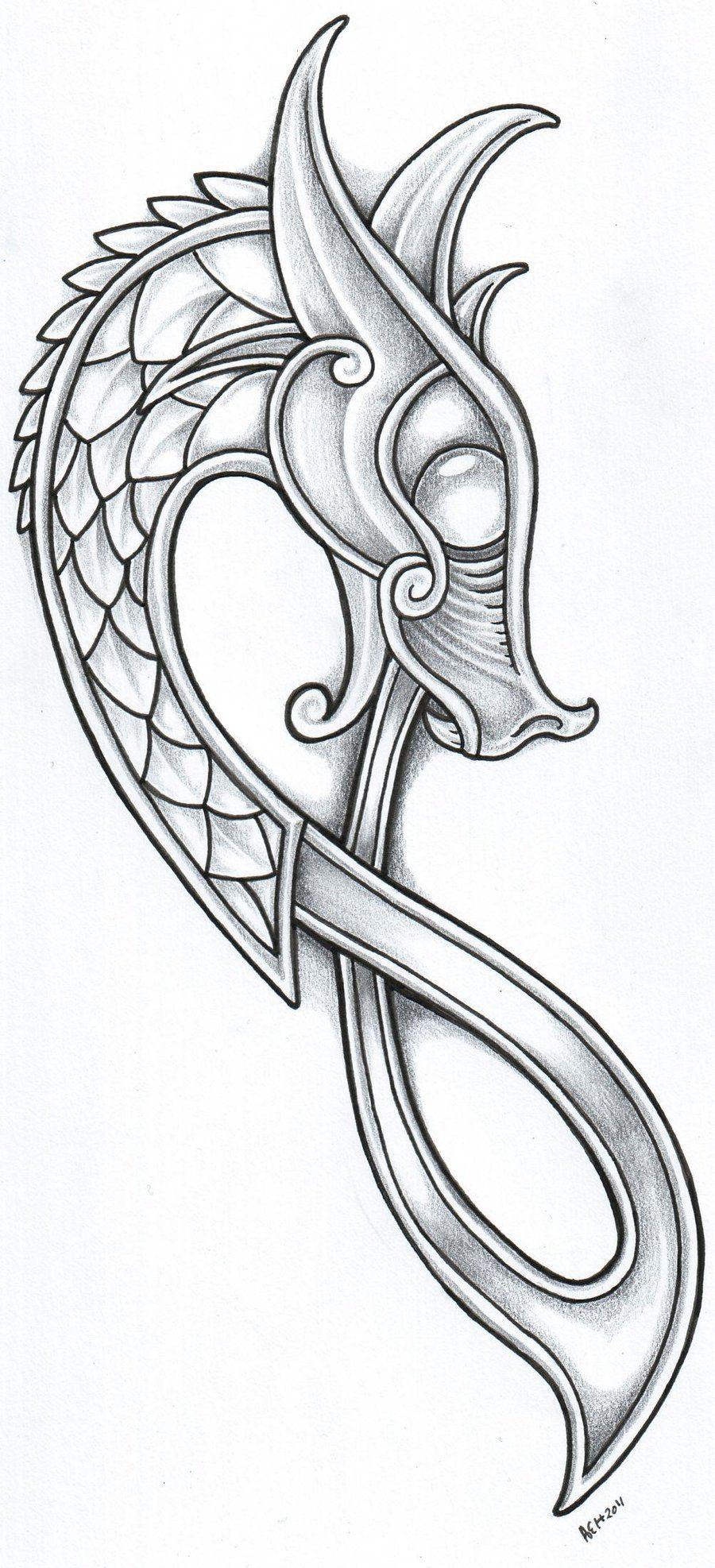 Norse Dragon Tattoo Designs Viking Art Viking Dragon Dragon Tattoo Designs